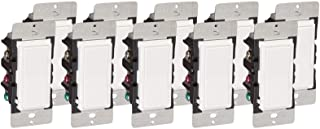 Leviton DZ15S-1BZ Decora Smart Switch with Z-Wave Technology, 10-Pack, White/Light Almond, Works with Alexa