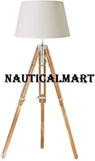 Handmade Handcrafted Natural Wood Tripod Lamp Home Decor