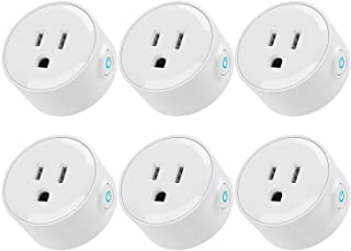 LITEdge Smart Plug Work with Alexa, Mini Wi-Fi Outlets, Voice APP Remote Control Socket from Anywhere, Only Supports 2.4GHz Network, Timer Function, No Hub Required, Pack of 6