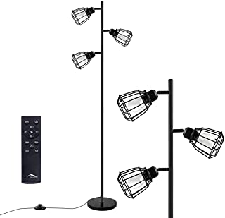 Joly Joy Arc Floor Lamps, Super Bright LED Torchiere Metal 3-Light Tree Floor Lamp, 18W LED Floor Light with Remote Control?Standing Lamp with Stepless Dimmer for Living Room, Office and Bedroom