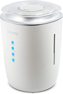 Ultrasonic Cool & Warm Mist Humidifier - Whisper Quiet Humidifier for Bedroom, Large Room, Babies, Home - 4L Capacity, 24h Humidifying - for Dry Cough, Nose, Skin & Eyes, Rooms With Air Conditioning