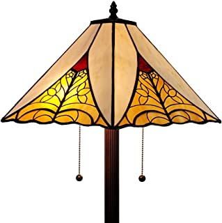 Amora Lighting Tiffany Style Floor Lamp Mission Standing 63