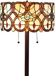Amora Lighting Tiffany Style Floor Lamp Vintage Antique 63