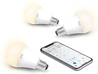 WiZ IZ0026023 60 Watt EQ A19 Smart WiFi Connected LED Light Bulbs/Compatible with Alexa and Google Home, no Hub Required, Dimmable Soft White, 3 Piece (Renewed)