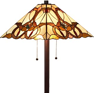Tiffany Style Floor Lamp Mission Standing Vintage Antique 63