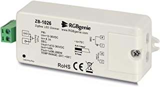 Zigbee LED Controller for LED Strip Lights. Dimmer and Zigbee Repeater, 8 Amps, Momentary Switch Input RGBgenie ZB-1026