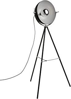 Rivet Boulevard Industrial Studio Tripod Floor Lamp With  Bulb, 60.5