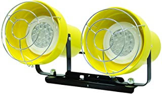TPI Corporation LED-2 Lighthead with Two Fixtures, Includes 2 12 Watt LED Bulbs, Use with Applicable TPI Modular Utility Lights, Yellow