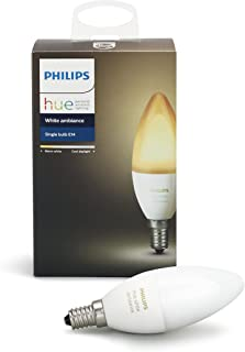 Philips Hue White Ambiance Decorative Candle 40W Dimmable LED Smart Bulb (Hue Hub Required, Works with Alexa, Homekit & Google Assistant), Old Version