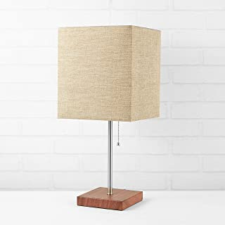 Urban Shop 784857777079 Fabric Burlap Shade Metallic Base Lamp