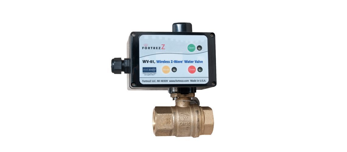 FZ-WV01LFUS075 Fortrezz Automated Water Shut-off Valve (Indoor) 3/4'' Z-Wave 300 Series