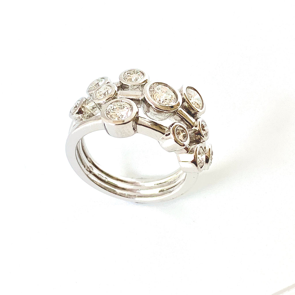 PLATINUM BUBBLE DIAMOND RING 1.50CT