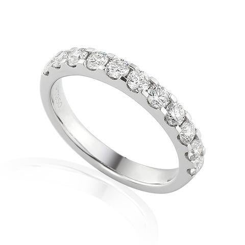 PLATINUM 50PT CLAW SET DIAMOND RING