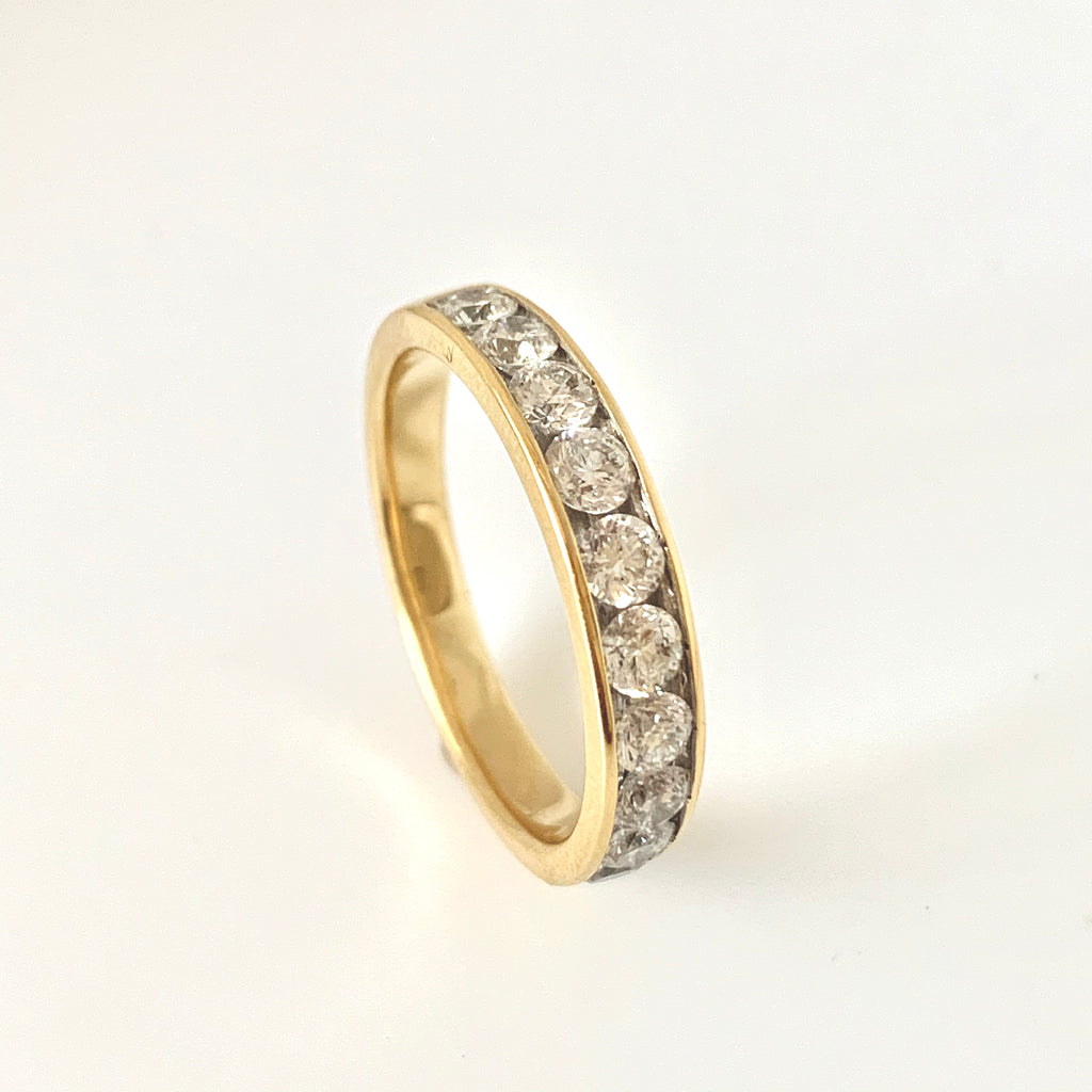 18CT GOLD 1.00CT CHANNEL SET DIAMOND BAND