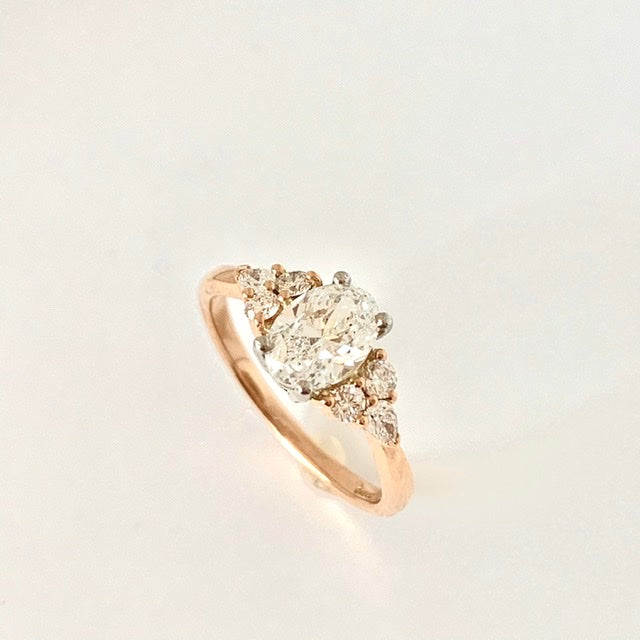 STUNNING GIA OVAL 1.00CT DIAMOND ROSE GOLD RING
