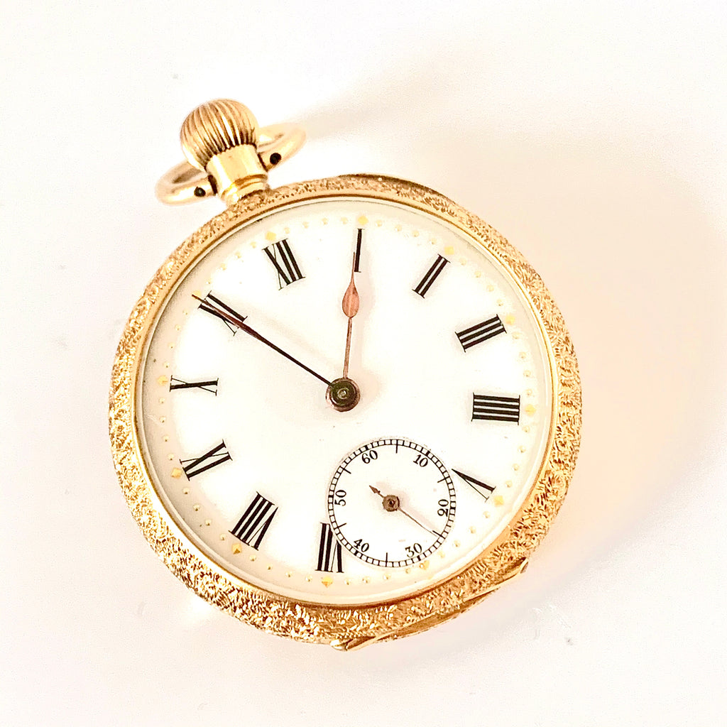 18CT GOLD EDWARDIAN POCKET WATCH