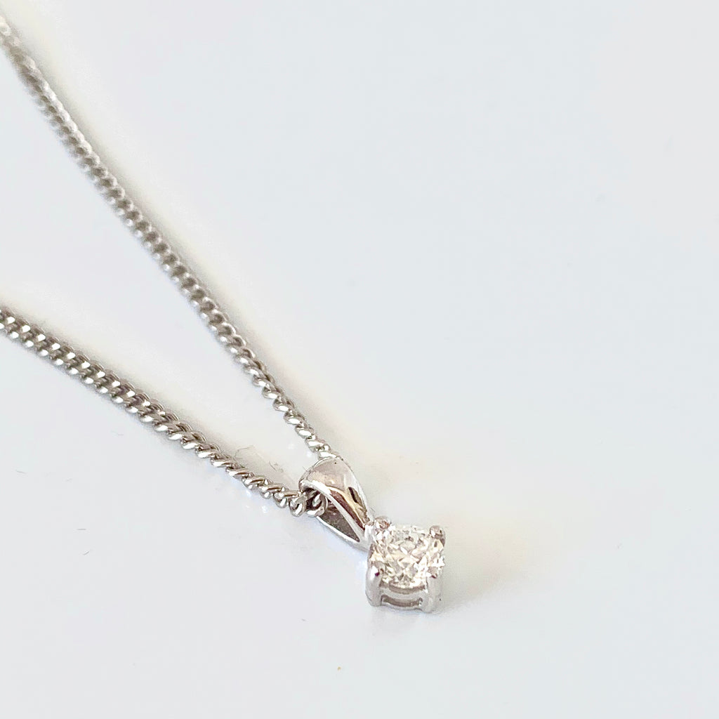 SOLITAIRE 25PT DIAMOND PENDANT