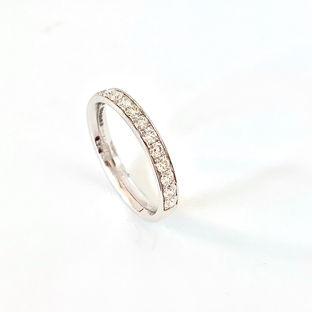 PLATINUM MILL GRAIN 40PT DIAMOND RING
