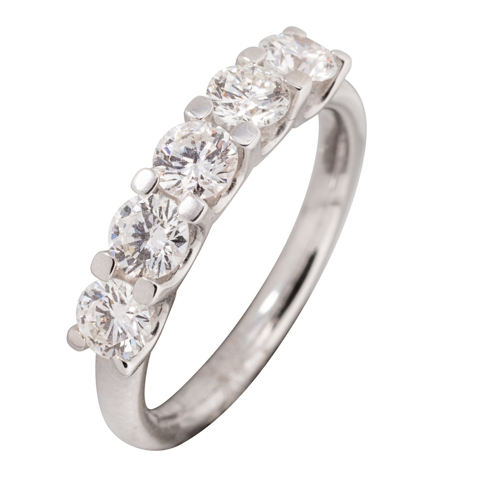18CT 5 STONE DIAMOND RING 1.OOCT