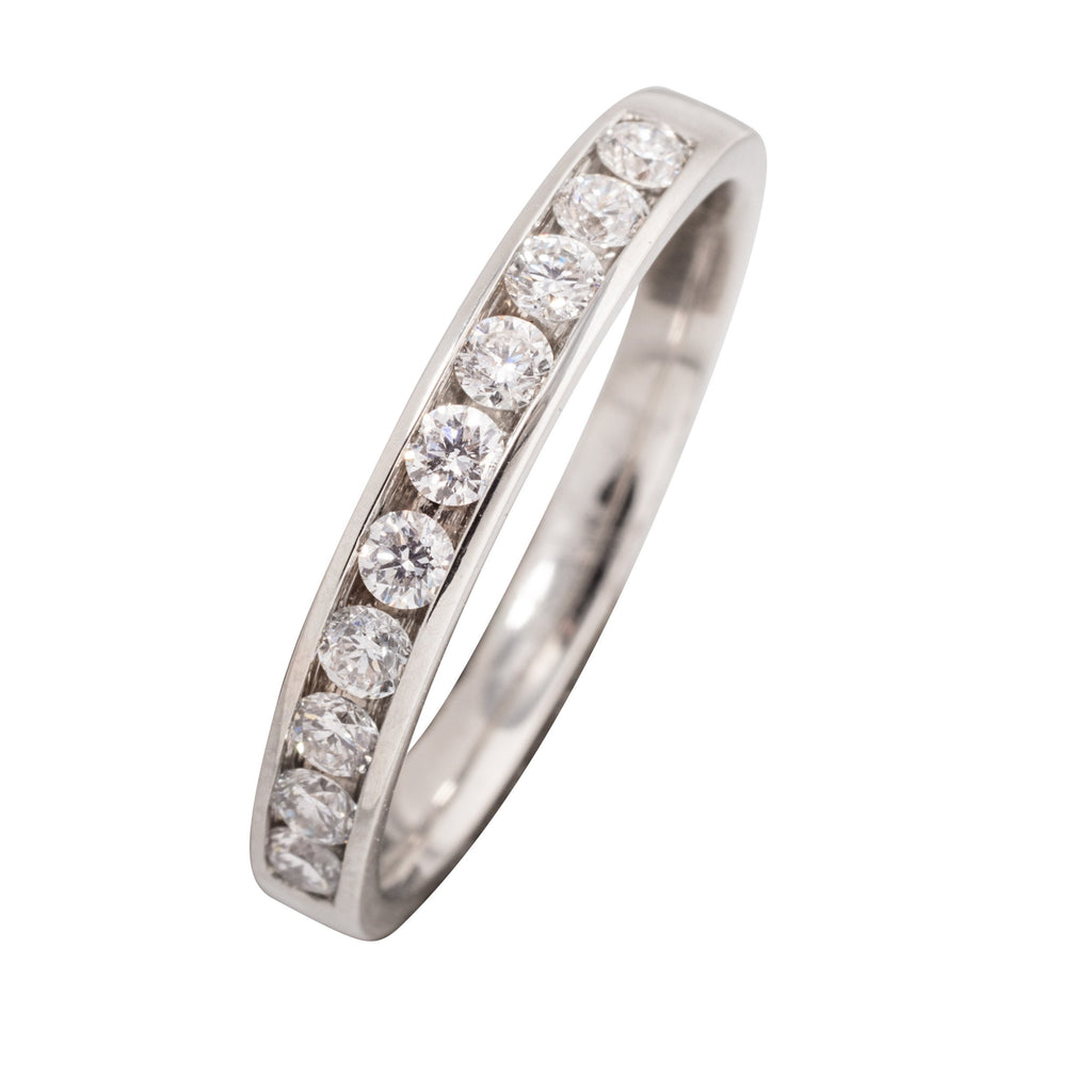 PLATINUM DIAMOND CHANNEL SET WEDDING RING 33PTS