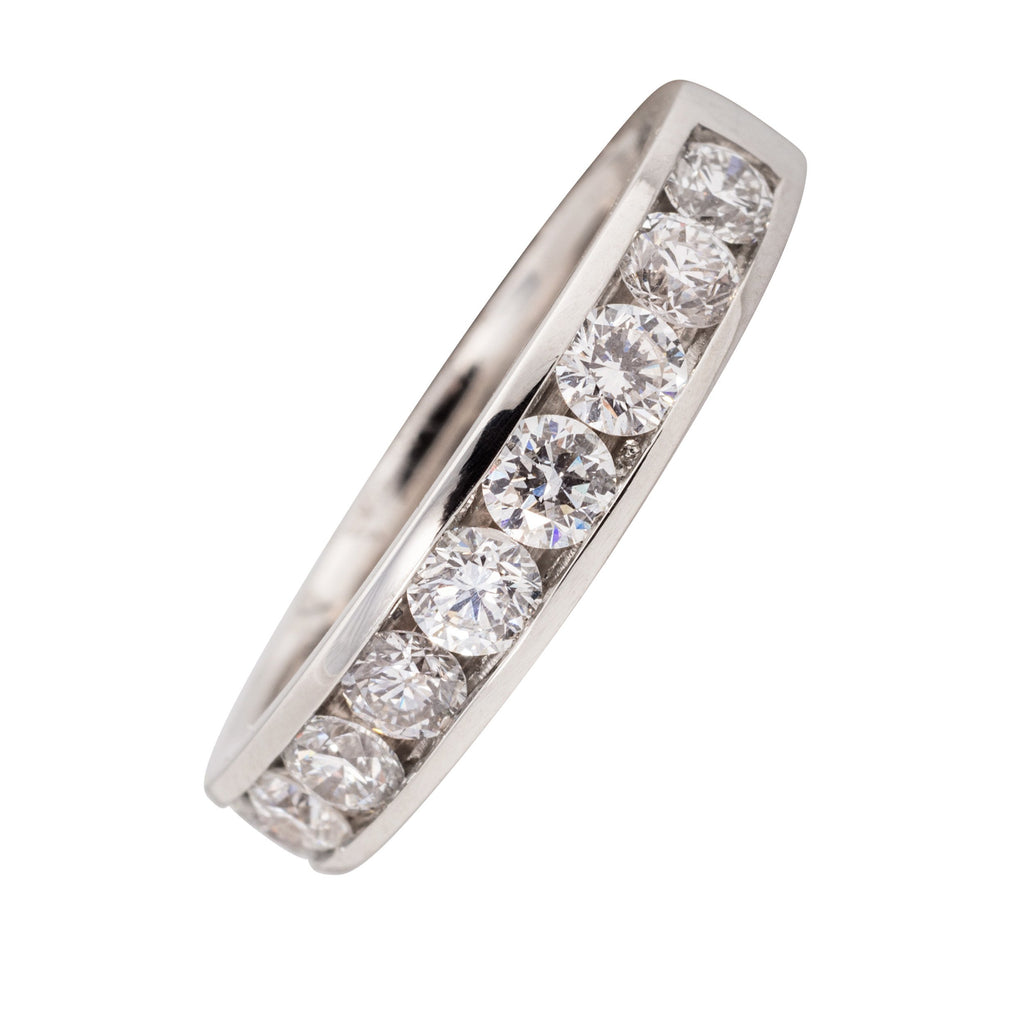 PLATINUM DIAMOND CHANNEL SET 1.00CT RING