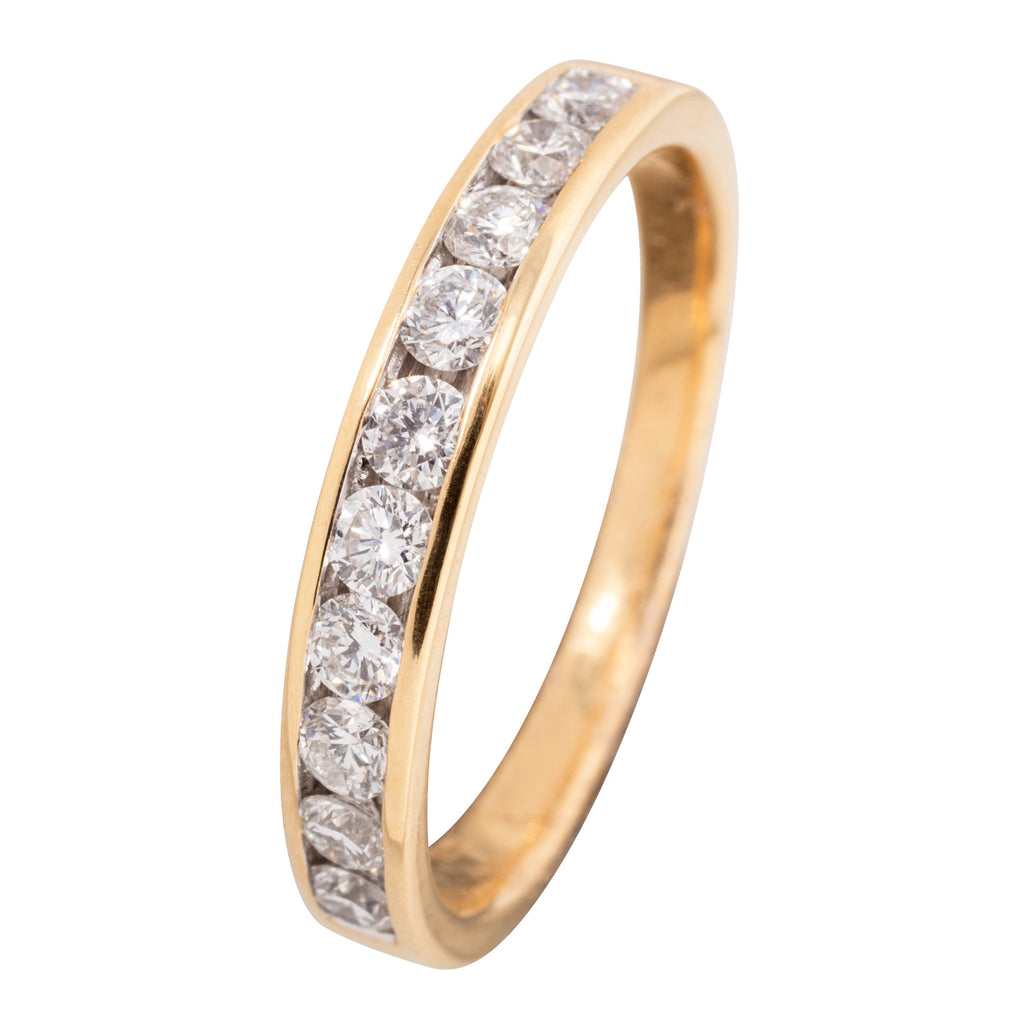 18CT CHANNEL SET DIAMOND RING 50PTS