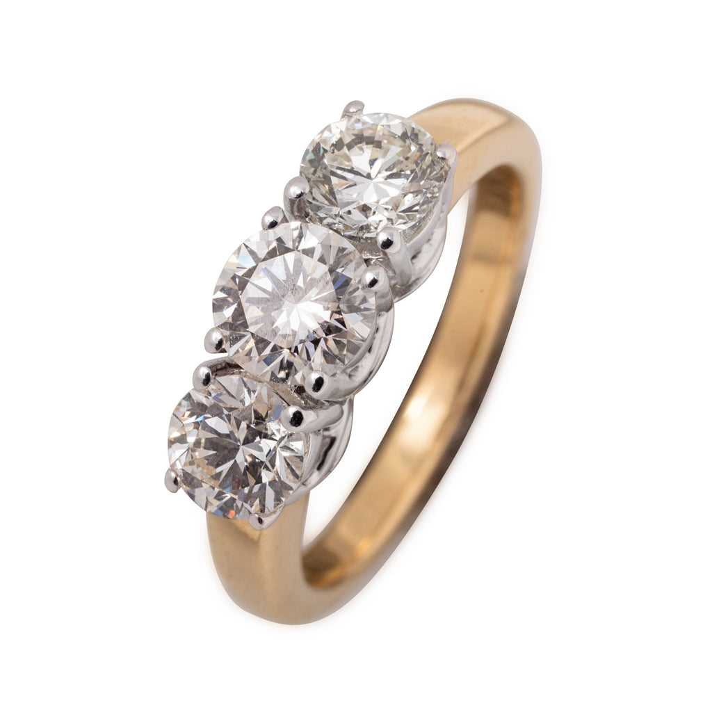 18CT 3 STONE 1CT DIAMOND RING