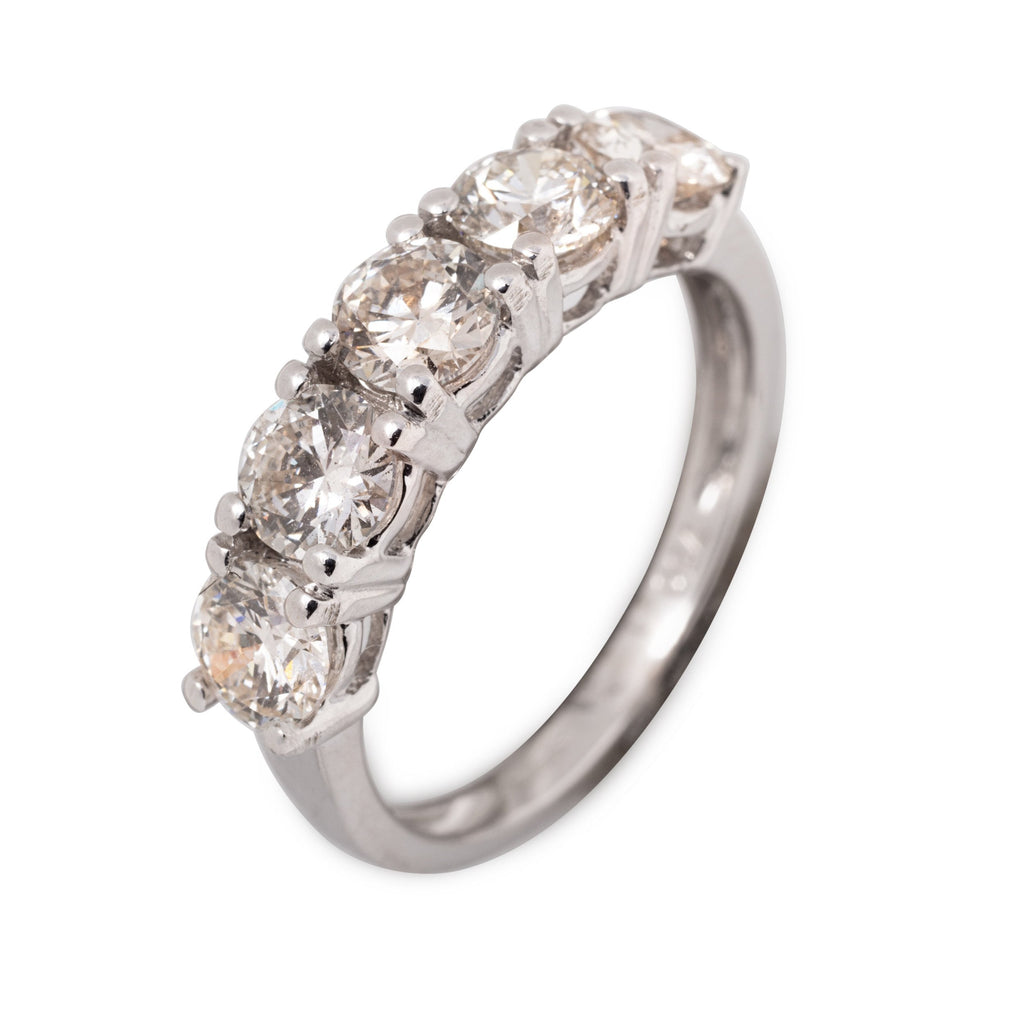 PLATINUM 5 STONE DIAMOND RING 1.00CT