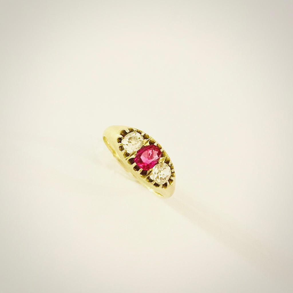 VICTORIAN RUBY DIAMOND RING