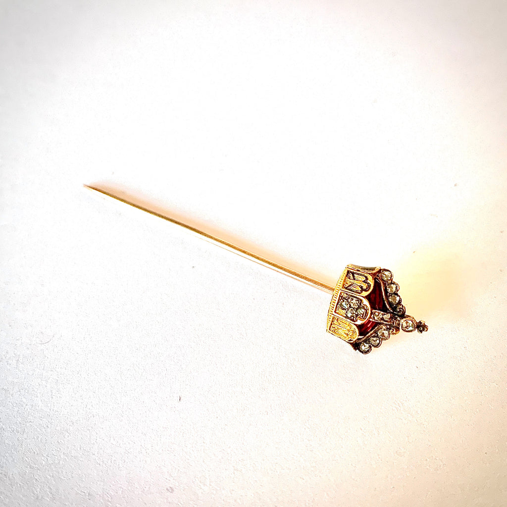 VICTORIAN CROWN LAPEL PIN