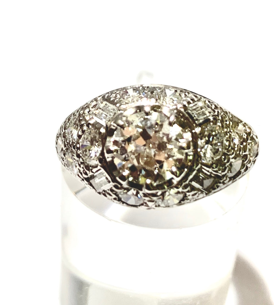 VINTAGE 1.75CTS DIAMOND PINKY RING