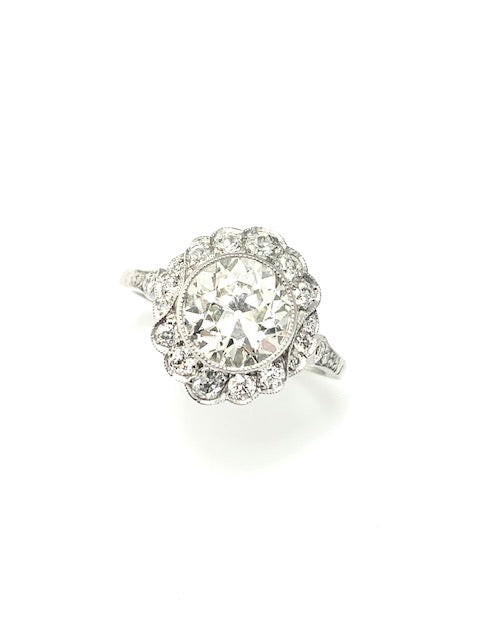 PLATINUM 2.68CT VINTAGE DIAMOND  RING