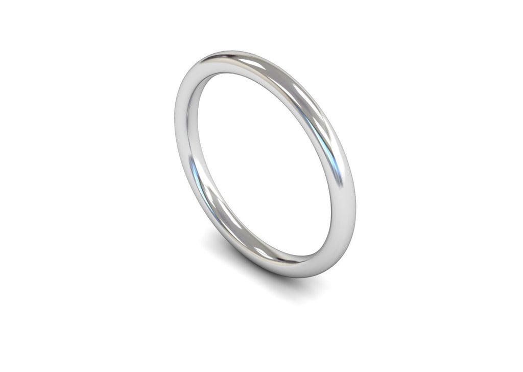 2MM TRADITIONAL COURT WEDDING BAND PLATINUM