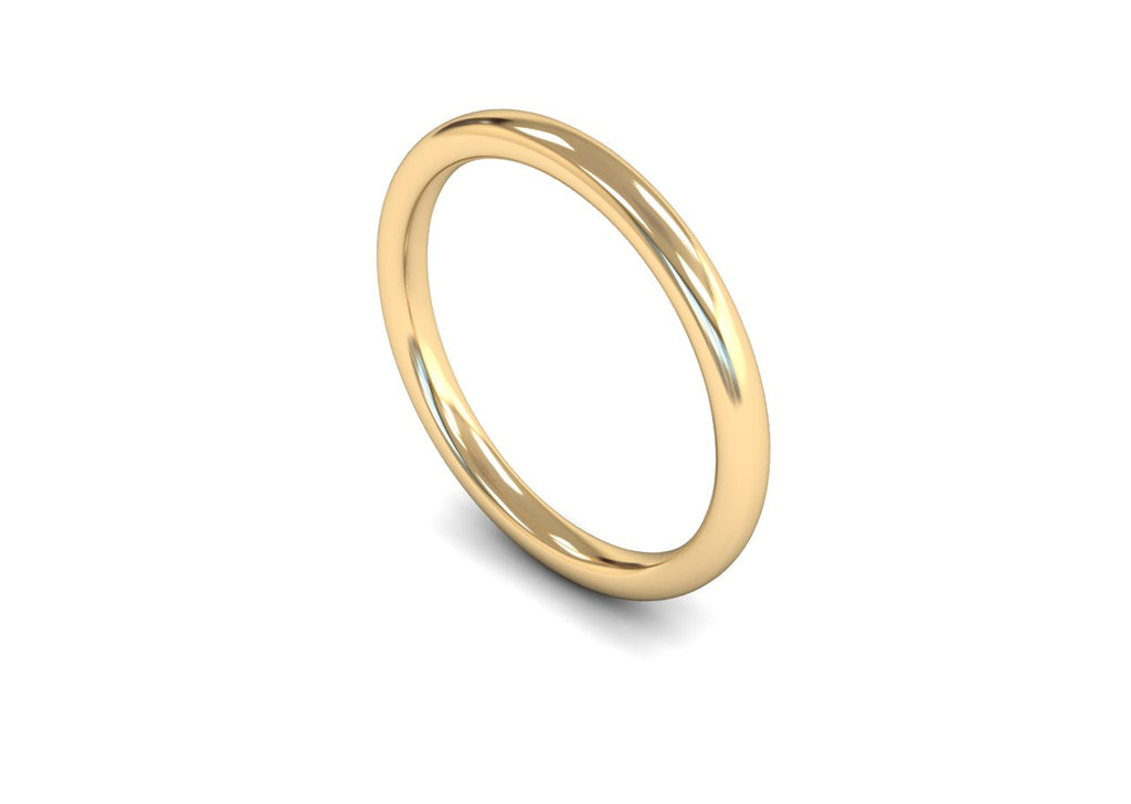 2MM TRADITIONAL COURT WEDDING BAND 18CT