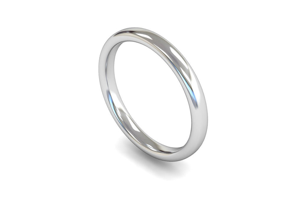 2.5MM TRADITIONAL COURT WEDDING BAND PLATINUM