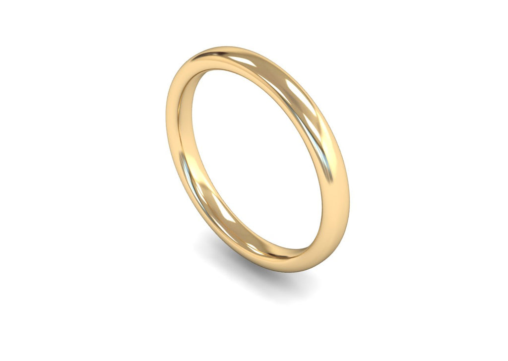 2.5MM TRADITIONAL COURT WEDDING BAND 18CT