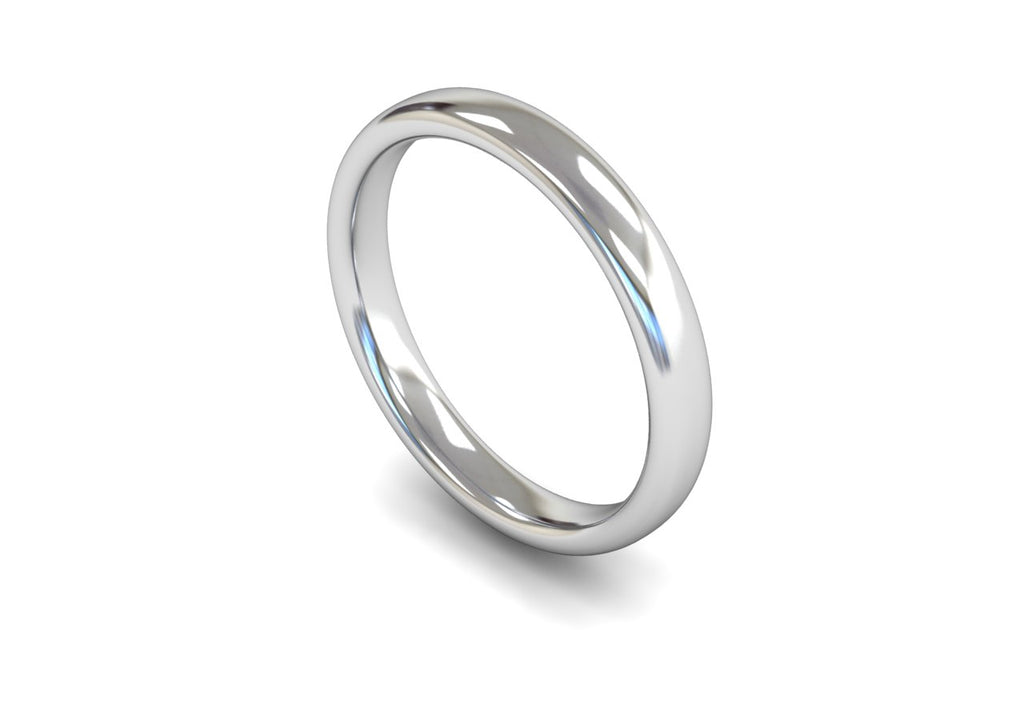 3MM TRADITIONAL COURT WEDDING BAND PLATINUM