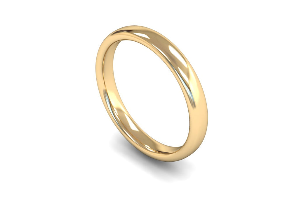 3MM TRADITIONAL COURT WEDDING BAND 9CT