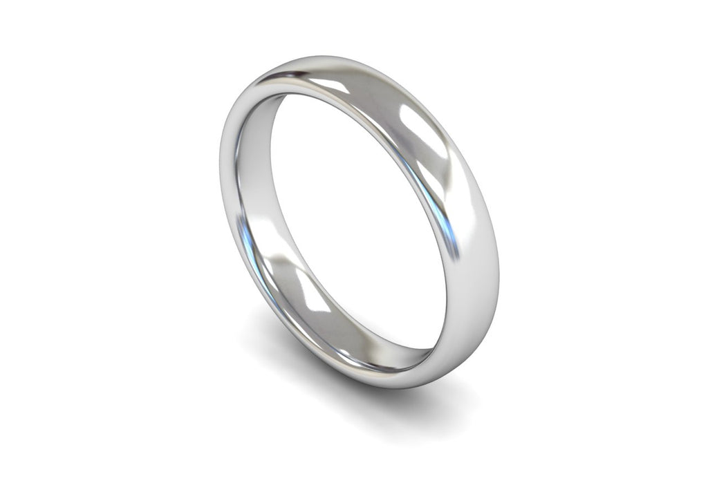 4MM TRADITIONAL COURT WEDDING BAND PLATINUM