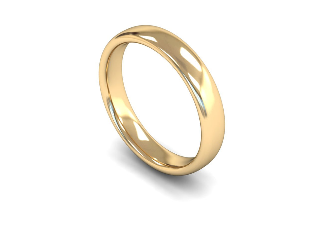 4MM TRADITIONAL COURT WEDDING BAND 9CT