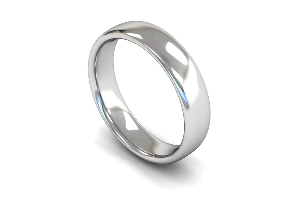 5MM TRADITIONAL COURT WEDDING BAND PLATINUM