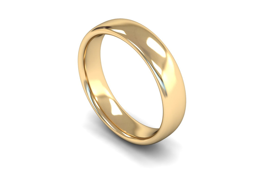 5MM TRADITIONAL COURT WEDDING BAND 9CT