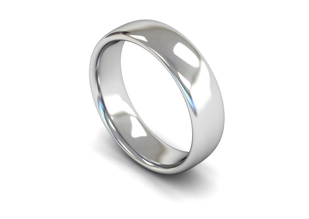 6MM TRADITIONAL COURT WEDDING BAND PLATINUM
