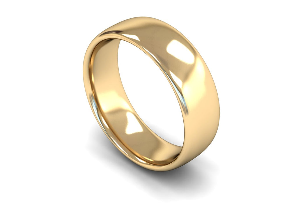 7MM TRADITIONAL COURT WEDDING BAND 9CT