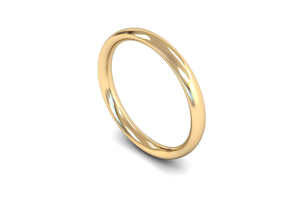 2.5MM COURT WEDDING BAND 18CT