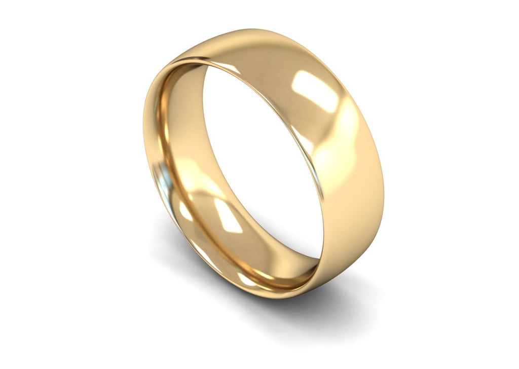 7MM COURT WEDDING BAND 9CT