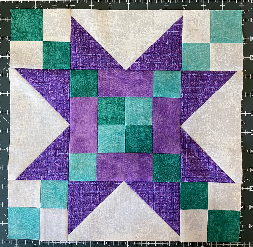 Block of the Week 15 Frayed Sawtooth Star