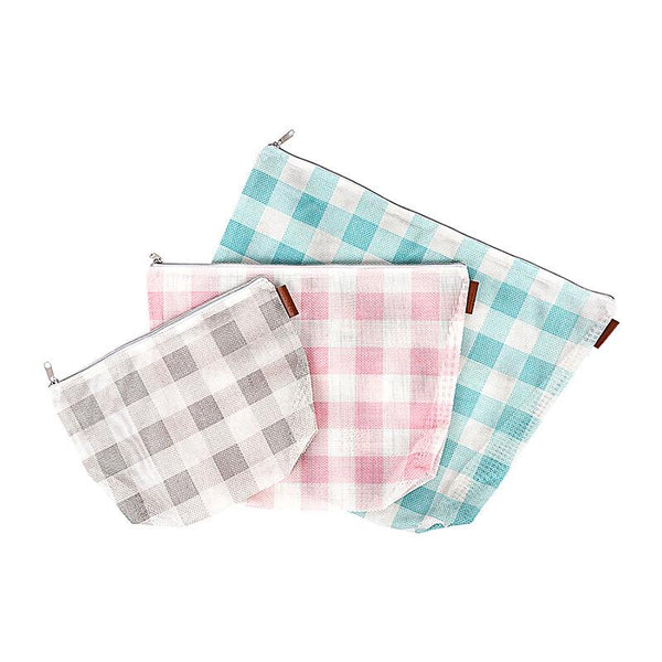 Gingham On the Go Mesh Bags