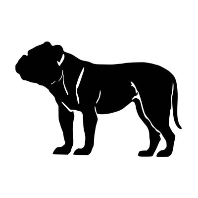 Old English Bulldog - Silhouette