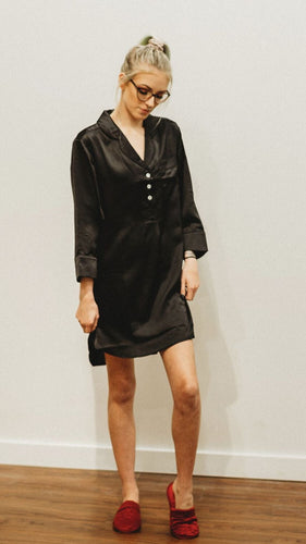 Silk Long Night Shirt